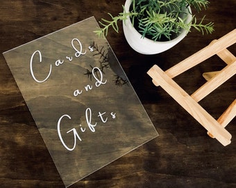 Acrylic A4 sign. White or Clear. Wishing Well | Cards & Gifts | Well Wishes | Candy Bar | Donuts | Weddings | Welcome