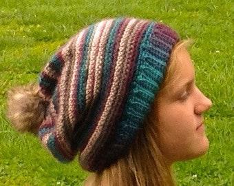 Crochet Pattern Womens Slouchy Beanie , Easy beginner pattern, PDF Download Pattern Instant Download