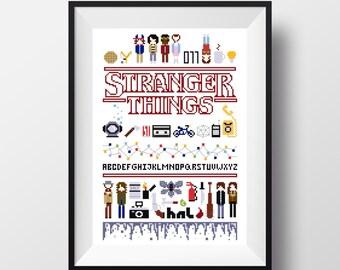 Stranger Things Cross Stitch Sampler