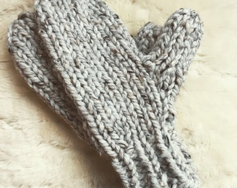 Ready to ship! Hand Knit Chunky Mittens - Winter Gloves