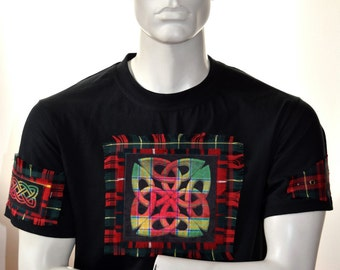 Celtic knot shirt - celtic tartan t-shirt - mens t-shirt - plaid shirt