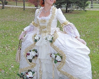 FOR ORDERS ONLY - Custom Made to Fit You - 18th Century Marie Antoinette 1700s Gown - Colonial Dutchess Dress - Ballgown - Wedding Bridal
