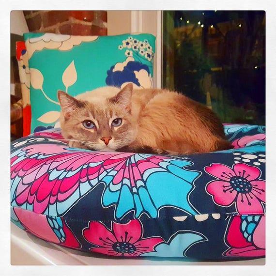 Butterflies in Blue Pet / Floor Cushion