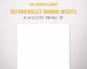 A5 Dot Grid Page - Bullet Journal Printable