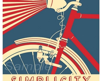 Vintage USA Travel Simplicity Poster Print