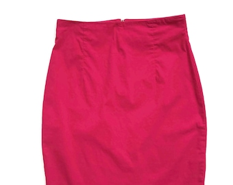 90's High Waist A-line Pink Mini Skirt