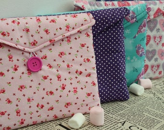 Lilacs, Green & Pinks - Print Gadget Tablet Bag - Various Sizes For All Popular Models
