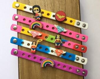 Girl Superhero Charm Bracelets PARTY FAVORS I