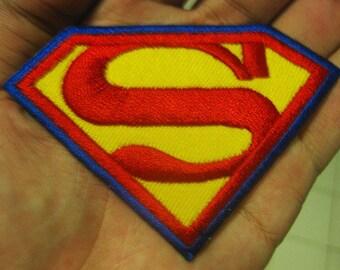 Free shipping SUPERMAN sew iron Patch Badge 6x8.5 CM