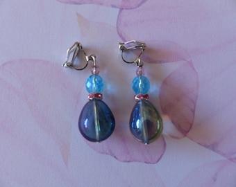 Pair of drop clip earrings