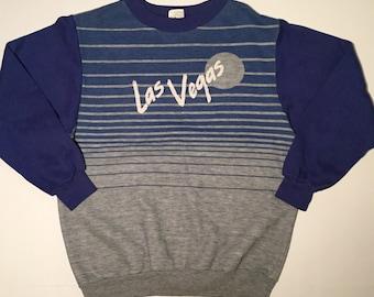 Vintage Las Vegas Crewneck Sweater Fleece.  Size: S