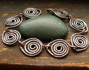 Copper Leaves Bracelet