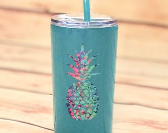 tumbler with straw 12 oz tumbler  kid stainless steel  kid tumbler lid  tumbler straw pineapple beach  cup kid tumbler cute pool cup kid
