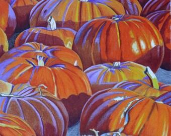 "Pumpkins - 7x7"" print"