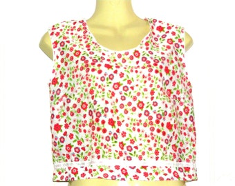 Crop Top,Floral Top, Vest Top, Sleeveless Top, Tanks Tops, Womens Tops, Size 12, Size 10, By Rebeccas Clothes