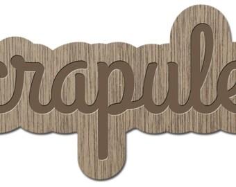 PUNK - Little words - laser cut wood - brooch