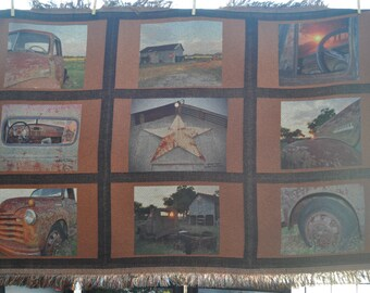 9 Panel Old Chevy Blanket