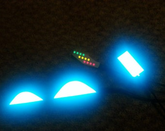 Air Mag DIY Light Up Shoes Lighting Kit Marty Mcfly For Nike Back To The Future Custom Replica Shoes + free watch