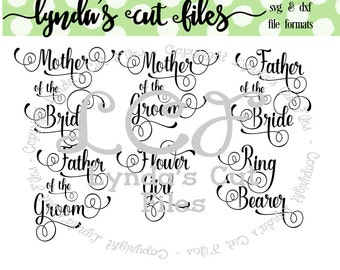 Bridal Party Add On //Mother of the Bride/Groom// Flower Girl//SVG/DXF/EPS file