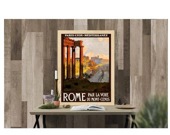 Rome Travel Poster, Vintage Style, Instant Download, Digital Print, Printable Wall Art