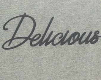 Delicious Wood Wall Word Decor Art