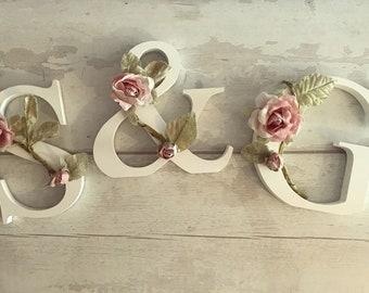 Wooden Flower Letter   Shabby Chic   Nursery   Girls Room   Baby Gift   Wedding Decor   6 Inch