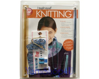 SALE! Learn to Knit Kit w/ DVD, Boye I Taught Myself Knitting, Knitting needles knitting accessories, Instruction Book & DVD on how to knit