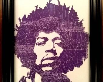 Original Jimi Hendrix Pen & Ink