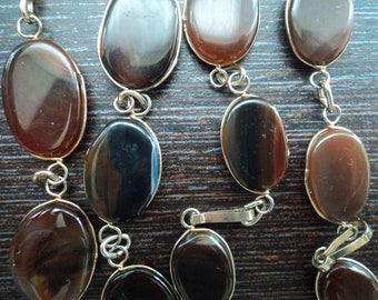 AGATE tablets beads necklace 60g
