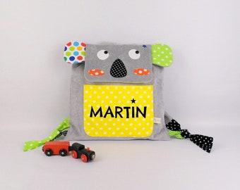 Sac bébé personnalisé prénom Martin Koala sac à dos enfant personnalisable couleurs motifs école maternelle crèche sac à gouter cadeau bébé