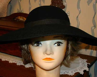 A Wonderful Large brim hat. Genuine Fur Felt Imported Fur.