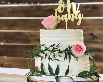 Oh baby Cake Topper | Baby Shower | Baby Shower Cake | Birth Announcement | Mom to Be | Pregnancy Announcement | Baby Boy | Baby Girl