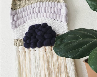 Blues Woven Wool Wall Hanging
