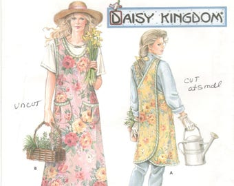 Simplicity 7481 Misses Wrap Around Apron Pattern Criss Cross Back Daisy Kingdom Womens Sewing Pattern
