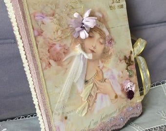 """Very nice shabby chic scrapbooking album """"Once upon a time"""" 40 PHOTOS"""