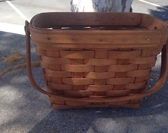 On Sale Longaberger SIGNED Collector Handmade Tour Basket Longaberger Basket