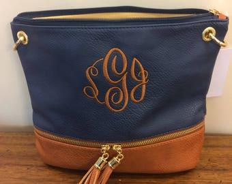 KHAKI, Monogrammed Crossbody Bag,Khaki  Personalized bags, Zippered Bags