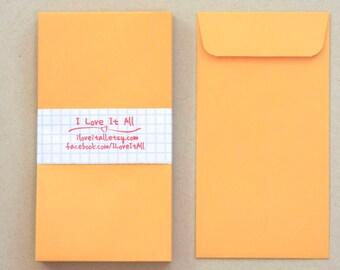 Coin Envelope . Cash Envelope System . Set of 25 with Flaps . 3.50 x 6.50 . Kraft Manila Stationery Large Mini Midori MTN Travelers Notebook