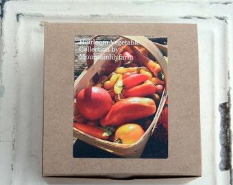 Vegetable Garden Kit, Heirloom Vegetable Seeds, Gardening Supplies in Gift Box, Great Mother's Day Gift or Gift for Gardener
