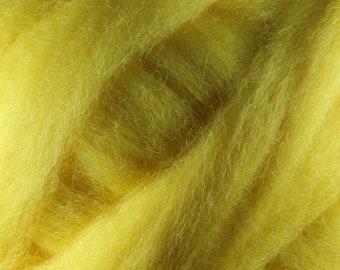 Wool Roving - 1oz - Yellow