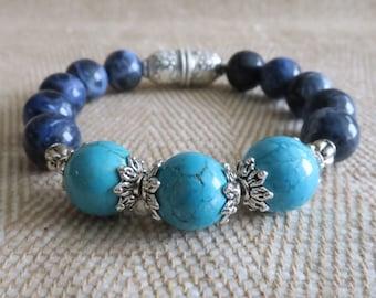 Gemstone elastic stretch bracelet