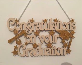 Graduation gift, congratulations on your graduation, graduation plaque, wooden plaque