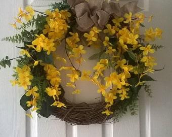Spring  wreath  Summer Wreath Outdoor decor Grapevine Wreath, Outdoor Decor