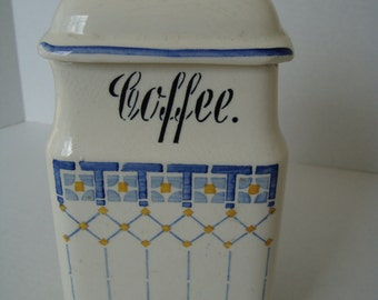 Vintage German Ceramic Coffee Canister