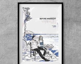 Before Midnight Alternative Movie Poster - Original Illustration