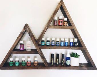 Double Mountain Shelf, Mountain Shelf, Triangle Shelf, Essential Oil Shelf