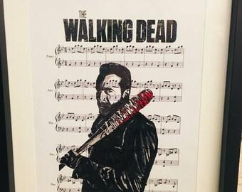 The Walking dead Negan art