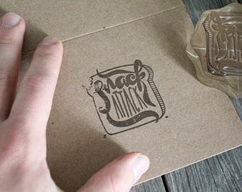 "Custom Logo Stamp ( 2.5"" x 2"" )  - Custom Stamp - Customized Stamp - Personalized Rubber Stamp - Stamp Custom - Clear Rubber Stamp"