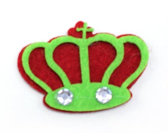 Crown Shaped Stiffened Felt Cutouts (pack of 3)
