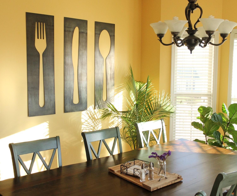 Fork Knife Spoon Decor Panels farmhouse kitchen dining